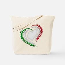 Italian Heart Tote Bag