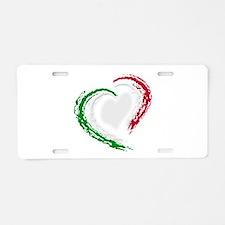Italian Heart Aluminum License Plate
