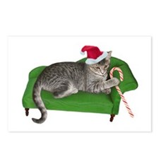 Christmas Cat Couch Postcards (Package of 8)