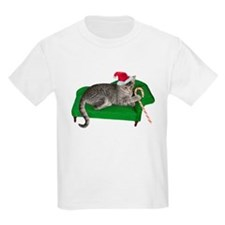 Christmas Cat Couch T-Shirt