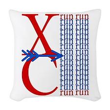 XC Run Royal Blue Woven Throw Pillow