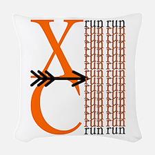 XC Run Orange Black Woven Throw Pillow