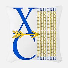 XCrunRoyBlGld.png Woven Throw Pillow