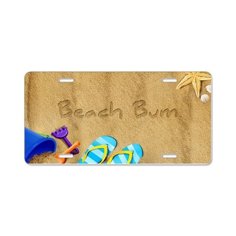 Beach Bum Aluminum License Plate