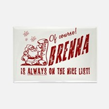 Nice List Brenna Christmas Rectangle Magnet