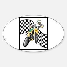 Motocross Design Oval Decal