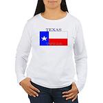 Texas Texan State Flag Women's Long Sleeve T-Shirt