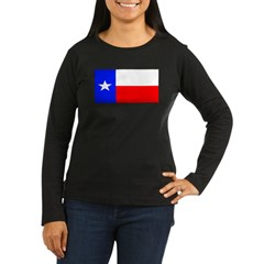 Texas Lone Star State Womens Sleeved Brown Shirt