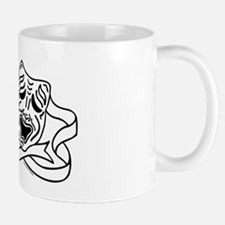 Comedy Tragedy Drama Masks - Black on White Mug