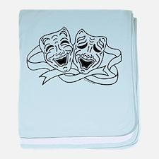 Comedy Tragedy Drama Masks - Black on White baby b