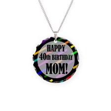 40th Birthday For Mom Necklace