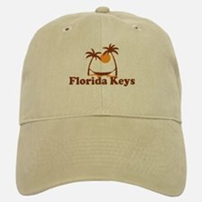 Florida Keys - Palm Trees Design. Baseball Baseball Cap