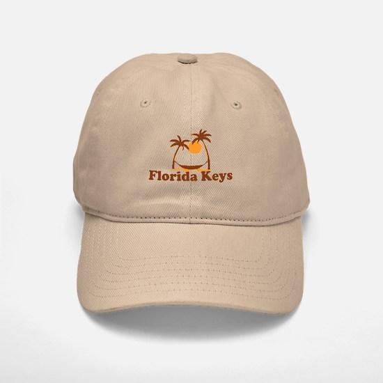 Florida Keys - Palm Trees Design. Baseball Baseball Cap