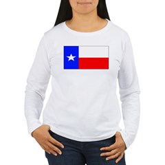 Texas Lone Star State Flag Womens Sleeved Shirt