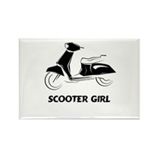 Scooter Girl (Black) Rectangle Magnet