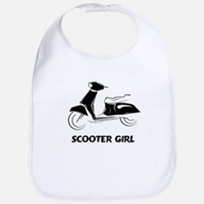 Scooter Girl (Black) Bib