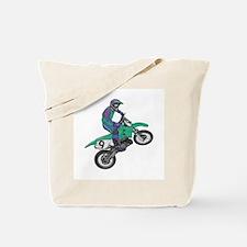 Dirt Bike Popping Wheelie Tote Bag