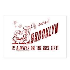 Nice List Brooklyn Christmas Postcards (Package of