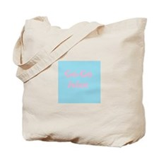 Go Go Juice in Pink and Blue Tote Bag