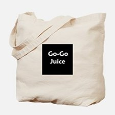go go juice in B&W Tote Bag