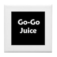 go go juice in B&W Tile Coaster