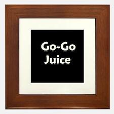 go go juice in B&W Framed Tile