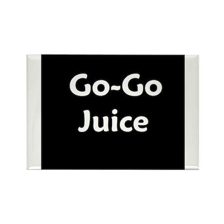 go go juice in B&W Rectangle Magnet