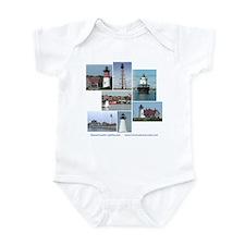 Massachusetts Lighthouses Infant Bodysuit