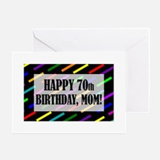 70th Birthday For Mom Greeting Card