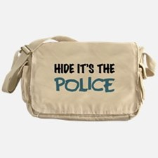 Hide it's the Police Messenger Bag