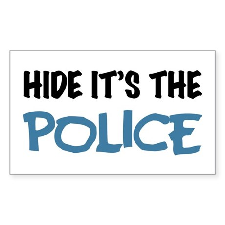 Hide it's the Police Sticker