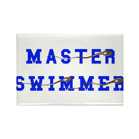 Master Swimmer Rectangle Magnet