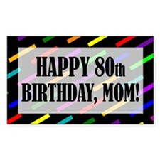 80th Birthday For Mom Decal