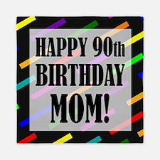 90th Birthday For Mom Queen Duvet