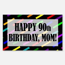 90th Birthday For Mom Sticker (Rectangle)