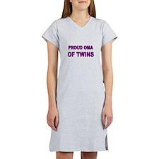 PROUD OMA OF TWINS Women's Nightshirt