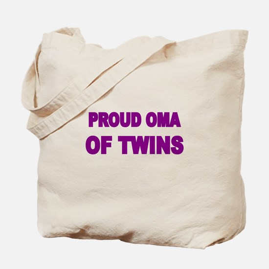 PROUD OMA OF TWINS Tote Bag