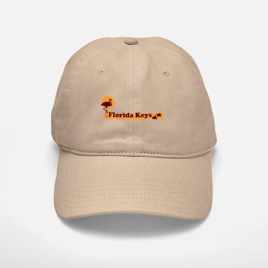 Florida Keys - Beach Design. Baseball Baseball Cap
