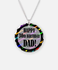 30th Birthday For Dad Necklace