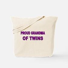 PROUD GRANDMA OF TWINS 2 Tote Bag