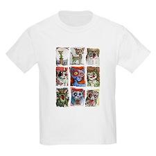 9 zombie cats T-Shirt