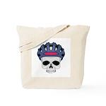 Cycling Skull Head Tote Bag