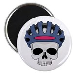 Cycling Skull Head Magnet