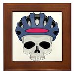 Cycling Skull Head Framed Tile