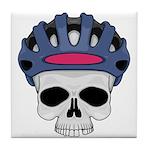 Cycling Skull Head Tile Coaster