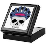 Cycling Skull Head Keepsake Box