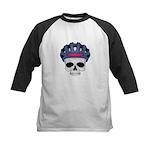 Cycling Skull Head Kids Baseball Jersey