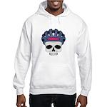 Cycling Skull Head Hooded Sweatshirt
