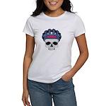 Cycling Skull Head Women's T-Shirt