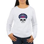 Cycling Skull Head Women's Long Sleeve T-Shirt